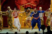 """Actors James Monroe Iglehart (L) and Adam Jacobs perform """"Aladdin"""" onstage during the 68th Annual Tony Awards at Radio City Music Hall on June 8, 2014 in New York City."""