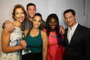 (L-R) Actors Alysia Reiner, Pablo Schreiber, Dascha Polanco, Danielle Brooks and Matt McGorry attend the 2014 Young Hollywood Awards brought to you by Samsung Galaxy at The Wiltern on July 27, 2014 in Los Angeles, California.