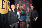 (L-R) Recording artist Jimmy Stafford of the band Train, actor Pablo Schreiber, actress Laverne Cox, actress Dascha Polanco, and recording artist Pat Monahan of the band Train attend the 2014 iHeartRadio Music Festival at the MGM Grand Garden Arena on September 20, 2014 in Las Vegas, Nevada.