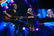 Singer Meghan Trainor (R) performs onstage during the 2014 iHeartRadio Music Festival at the MGM Grand Garden Arena on September 20, 2014 in Las Vegas, Nevada.