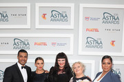 The cast of TV show Wentworth (L-R) Robbie Magasiva, Danielle Cormack, Katrina Milosevic, Celia Ireland and Shareena Clanton arrive at the 2015 ASTRA Awards at the Star on March 12, 2015 in Sydney, Australia.