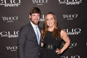 Noah Galloway and Jamie Boyd attend the 2015 CLIO Sports Awards at Cipriani 42nd Street on July 8, 2015 in New York City.