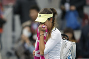 Ana Ivanovic of Serbia leaves the court after losing the Women's single semi-final match against Timea Bacsinszky of Switzerland on day 8 of the 2015 China Open at the China National Tennis Center on October 10, 2015 in Beijing, China.