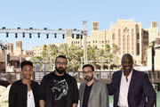"Actor Jacob Latimore, directors Khurram Alavi and Ayman Jamal and actor Adewale Akinnuoye-Agbaje attends the ""Bilal"" photocall during day two of the 12th annual Dubai International Film Festival held at the Madinat Jumeriah Complex on December 10, 2015 in Dubai, United Arab Emirates."