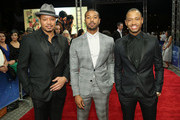 """Actors (L-R) Terrence Howard, Michael B Jordan and Terrence J  attend the """"Bilal"""" premiere during day two of the 12th annual Dubai International Film Festival held at the Madinat Jumeriah Complex on December 10, 2015 in Dubai, United Arab Emirates."""
