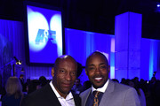 Director John Singleton and producer Will Packer attend the 2015 A+E Networks Upfront on April 30, 2015 in New York City.