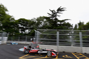 Bruno Senna of Brazil driving for Mahindra Racing during qualifying at Battersea Park Track on June 28, 2015 in London, England.
