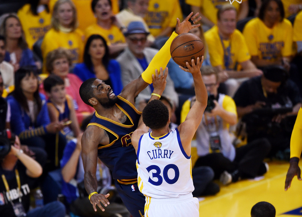 Kyrie Irving Photos Photos - 2015 NBA Finals - Game One ...