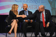 (L-R) Singer Thalia, former Yankee Mariano Rivera, and Director of the U.S. Citizenship and Immigration Services Leon Rodriguez speak onstage during the Naturalization Ceremony at Festival PEOPLE En Espanol 2015 presented by Verizon at Jacob Javitz Center on October 18, 2015 in New York City.