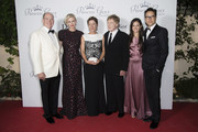 (L-R) His Serene Highness Prince Albert II of Monaco, Her Serene Highness Princess Charlene of Monaco, 2015 Princess Grace Awards Gala Honorees Sibylle Szaggars Redford and Robert Redford, Daniella Perez Lopez and Cary Fukunaga (Princess Grace Statue Award Recipient) attend the 2015 Princess Grace Awards Gala With Presenting Sponsor Christian Dior Couture at Monaco Palace on September 5, 2015 in Monte-Carlo, Monaco.