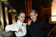 Fashion designer Isabel Toledo (L) and artist Ruben Toledo attend the Roslyn S. Jaffe Awards Luncheon at Cipriani 42nd Street on October 27, 2015 in New York City.