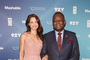 Actress Ashley Judd and Executive Director of UNFPA, Babatunde Osotimehin attend the 2015 Social Good Summit at 92Y on September 27, 2015 in New York City.
