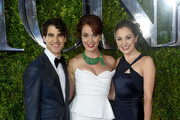 (L-R) Darren Criss, Sierra Boggess and Laura Osnes attend the 2015 Tony Awards at Radio City Music Hall on June 7, 2015 in New York City.