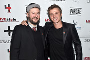 "-- (L-R)  Producer Thomas Mahoney and actor Kenny Wormald attend ""The Girl In The Photographs"" reception during the 2015 Toronto International Film Festival at the Adelaide West Hotel  on September 14, 2015 in Toronto, Canada."