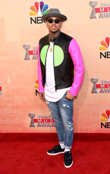Singer Chris Brown attends the 2015 iHeartRadio Music Awards which broadcasted live on NBC from The Shrine Auditorium on March 29, 2015 in Los Angeles, California.