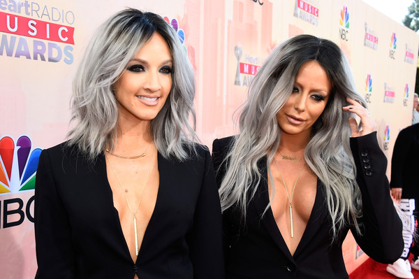 Singers Shannon Bex (L) and Aubrey O'Day of Dumb Blonde attend the 2015 iHeartRadio Music Awards which broadcasted live on NBC from The Shrine Auditorium on March 29, 2015 in Los Angeles, California.