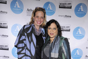 Geralyn Dreyfous (L) and Mira Nair attend the 2016 Athena Film Festival day one at The Diana Center on February 19, 2016 in New York City.