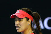 Ana Ivanovic of Serbia celebrates in her third round match against Madison Keys of the United States during day six of the 2016 Australian Open at Melbourne Park on January 23, 2016 in Melbourne, Australia.