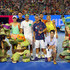 Novak Djokovic Victoria Azarenka Photos - Milos Raonic of Canada, Caroline Wozniacki of Denmark, Roger Federer of Switzerland, Lleyton Hewitt of Australia, Victoria Azarenka of Belarus and Novak Djokovic of Serbia pose with Nickelodeon presenters and the Teenage Mutant Ninja Turtles following the Rod Laver Arena Spectacular as part of Kids Tennis Day presented by Nickelodeon ahead of the 2016 Australian Open at Melbourne Park on January 16, 2016 in Melbourne, Australia. - 2016 Australian Open - Previews