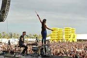 Musicians Matt Johnson (L) and Kim Schifino of Matt and Kim perform onstage during day 3 of the 2016 Coachella Valley Music & Arts Festival Weekend 2 at the Empire Polo Club on April 24, 2016 in Indio, California.