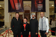 """Director Abdulla Al Kaabi (second right) and guests attend the """"Only Men Go To The Grave"""" red carpet during day four of the 13th annual Dubai International Film Festival held at the Madinat Jumeriah Complex on December 10, 2016 in Dubai, United Arab Emirates."""