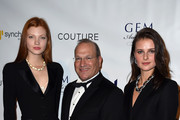 (L-R) Caroline Silta, David J. Bonaparte and Vasilisa Pavlova attend 2016 GEM Awards Gala at Cipriani 42nd Street on January 8, 2016 in New York City.
