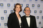 Sigourney Weaver (L) and guest attend 2016 Human Rights Campaign New York Gala Dinner at The Waldorf=Astoria on February 6, 2016 in New York City.