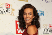 Megan Gale arrives at the 58th Annual Logie Awards at Crown Palladium on May 8, 2016 in Melbourne, Australia.