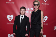 Sharon Stone and Roan Bronstein Photos Photo