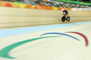 Crystal Lane of Great Britain competes in the Women's C4-5 500m Time Trial Track Cycling on day 3 of the Rio 2016 Paralympic Games at the Olympic Velodrome on September 10, 2016 in Rio de Janeiro, Brazil.