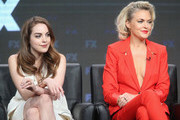 (L-R) Actors Elizabeth Gillies and Elaine Hendrix speak onstage at 'Sex&Drugs&Rock&Roll' panel discussion during the FX portion of the 2016 Television Critics Association Summer Tour at The Beverly Hilton Hotel on August 9, 2016 in Beverly Hills, California.