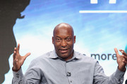 Filmmaker John Singleton speaks onstage during 'The Talk (w.t)' panel discussion at the PBS portion of the 2016 Television Critics Association Summer Tour at The Beverly Hilton Hotel on July 28, 2016 in Beverly Hills, California.