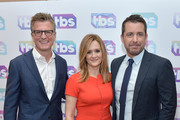 (L-R) President, TBS and TNT and Chief Creative Officer, Turner Entertainment, Kevin Reilly, actors/executive producers Samantha Bee and Jason Jones attend the 2016 TCA Turner Winter Press Tour Presentation at the Langham Hotel on January 7, 2016 in Pasadena, California. 25807_001