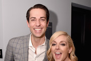 Actor Zachary Levi (L) and Actress Jane Krakowski attend the 2016 Tony Awards Meet The Nominees Press Reception on May 4, 2016 in New York City.