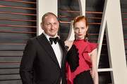 Executive Group President, The Estee Lauder Companies Inc. John Demsey (L) and actress Jessica Joffe attend the 2016 Vanity Fair Oscar Party Hosted By Graydon Carter at the Wallis Annenberg Center for the Performing Arts on February 28, 2016 in Beverly Hills, California.