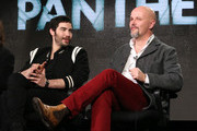 (L-R) Actor Tahar Rahim and executive producer Peter Carlton speak onstage during The Last Panthers panel as part of the AMC Networks portion of This is Cable 2016 Television Critics Association Winter Tour at Langham Hotel on January 8, 2016 in Pasadena, California.
