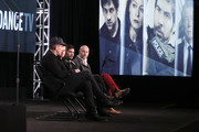 (L-R) Executive Producer/Director Johan Renck, actress Samantha Morton, actor Tahar Rahim and executive producer Peter Carlton speak onstage during The Last Panthers panel as part of the AMC Networks portion of This is Cable 2016 Television Critics Association Winter Tour at Langham Hotel on January 8, 2016 in Pasadena, California.