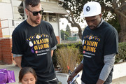 Andrew Bogut #66 and Luol Deng #9 of the Los Angeles Lakers and East West Bank conclude A Season of Giving with the annual Holiday Party for Kids in El Segundo, California.  NOTE TO USER: User expressly acknowledges and agrees that, by downloading and or using this photograph, User is consenting to the terms and conditions of the Getty Images License Agreement. Mandatory Copyright Notice: Copyright 2017 NBAE