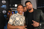 (L-R) Jacob Latimore, Laz Alonso, and Deray Davis at the 2017 BET Awards at Staples Center on June 25, 2017 in Los Angeles, California.