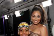 Kiyan Carmelo Anthony (L) and La La Anthony at the 2017 BET Awards at Staples Center on June 25, 2017 in Los Angeles, California.