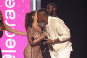 Lecrae accepts the Dr. Bobby Jones Best Gospel/Inspirational Award for 'Can't Stop Me Now (Destination)' from La La Anthony and Kofi Siriboe onstage at 2017 BET Awards at Microsoft Theater on June 25, 2017 in Los Angeles, California.