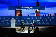 Chief International Affairs Columnist, POLITICO, Susan Glasser (L) and Chairman, European Council on Tolerance and Reconciliation & Former Prime Minister, United Kingdom of Great Britain and Northern Ireland, Tony Blair (R) speak at The 2017 Concordia Annual Summit at Grand Hyatt New York on September 18, 2017 in New York City.