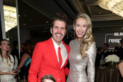 Perez Hilton (L) and Olivia Jordan at the 2017 GLSEN Respect Awards at the Beverly Wilshire Hotel on October 20, 2017 in Los Angeles, California.
