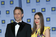 Honoree Seth Meyers and Alexi Ashe attend the 2017 Human Rights Campaign Greater New York Gala at Waldorf Astoria Hotel on February 11, 2017 in New York City.