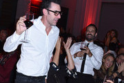Sacha Baron Cohen and Benjamin Millepied attend the 2017 Los Angeles Dance Project Gala on October 7, 2017 in Los Angeles, California.