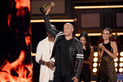 (L-R) Actors Tyrese Gibson, Vin Diesel, Michelle Rodriguez and Jordana Brewster accept the MTV Generation Award for 'The Fast and the Furious' franchise onstage during the 2017 MTV Movie And TV Awards at The Shrine Auditorium on May 7, 2017 in Los Angeles, California.