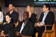 "(Top L-R) Actors Dylan Bruce, Arielle Kebbel, Yul Vazquez (Bottom L-R)  Actors Sarah Ramos (L) and Peter Mensah of ""Midnight, Texas"" speak onstage during the 2017 NBCUniversal Summer Press Day at The Beverly Hilton Hotel on March 20, 2017 in Beverly Hills, California."