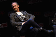 Christopher Meloni speaks at The Happy! Panel during 2017 New York Comic Con - Day 3 on October 7, 2017 in New York City.