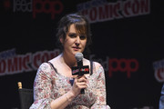 Melanie Lynskey speaks onstage at the Castle Rock Panel during the New York Comic Con 2017 on October 8, 2017 in New York City.