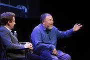 Evan Osnos and Ai Weiwei attend The 2017 New Yorker Festival - Ai Weiwei Talks With The New Yorker's Evan Osnos on September 8, 2017 in New York City.
